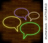 vector colorful speech bubbles... | Shutterstock .eps vector #1147518413