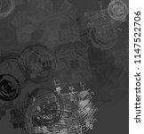 contemporary art. hand made art.... | Shutterstock . vector #1147522706