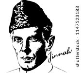 Jinnah vector illustration