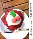 red velvet cupcake with... | Shutterstock . vector #1147530239