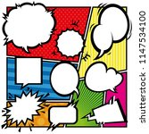 comic style speech bubbles   Shutterstock .eps vector #1147534100