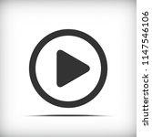 video button icon   vector  | Shutterstock .eps vector #1147546106