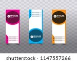 roll up banner stand template... | Shutterstock .eps vector #1147557266