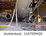 aircraft  airplane  lift up... | Shutterstock . vector #1147559420