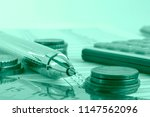 financial background with money ... | Shutterstock . vector #1147562096