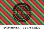 true christmas colors emblem.   Shutterstock .eps vector #1147563839