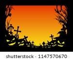 frame with silhouettes of... | Shutterstock .eps vector #1147570670