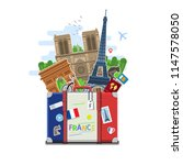 concept of travel to france or...   Shutterstock . vector #1147578050