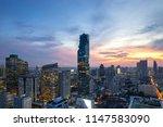 bangkok city   aerial view ... | Shutterstock . vector #1147583090