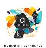 geometric triangle infographics ... | Shutterstock .eps vector #1147583423