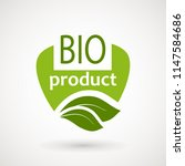 bio product icon. healthy... | Shutterstock .eps vector #1147584686