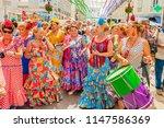 malaga  spain   august 11  2012 ... | Shutterstock . vector #1147586369