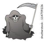 terror nightmare | Shutterstock .eps vector #114759226