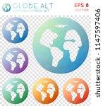 globe alt geometric polygonal... | Shutterstock .eps vector #1147597406