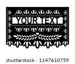 vector papel picado. happy... | Shutterstock .eps vector #1147610759