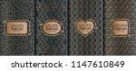 set of golden luxury templates. ... | Shutterstock .eps vector #1147610849