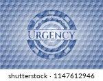 urgency blue polygonal emblem. | Shutterstock .eps vector #1147612946