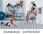 a professional therapist making ... | Shutterstock . vector #1147615610
