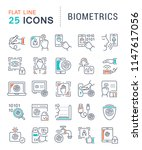 set of vector line icons of... | Shutterstock .eps vector #1147617056