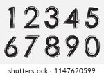 grunge dirty numbers set.... | Shutterstock .eps vector #1147620599