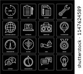 set of 16 icons such as... | Shutterstock .eps vector #1147624589