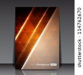 abstract modern orange vector... | Shutterstock .eps vector #114762670