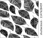 black and white pattern | Shutterstock .eps vector #1147628459