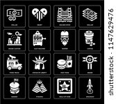 set of 16 icons such as... | Shutterstock .eps vector #1147629476