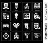 set of 16 icons such as dollar  ...