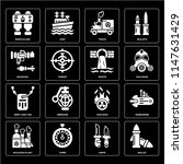 set of 16 icons such as bullet  ...