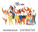 we are beautiful. international ... | Shutterstock .eps vector #1147631720