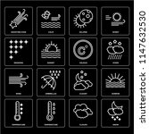 set of 16 icons such as snow ...