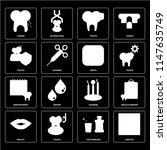 set of 16 icons such as dentist ...