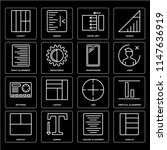 set of 16 icons such as display ...