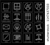 set of 16 icons such as width ...