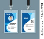 blue curve wave id card design... | Shutterstock .eps vector #1147646210