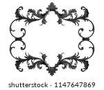 black ornament on a white... | Shutterstock . vector #1147647869