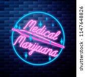 vintage medical marijuana emblem | Shutterstock .eps vector #1147648826