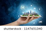 5g network wireless systems and ... | Shutterstock . vector #1147651340