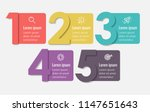 vector infographic label design ... | Shutterstock .eps vector #1147651643