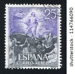 spain   circa 1962  stamp... | Shutterstock . vector #114766090