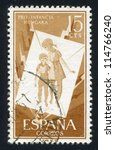spain   circa 1956  stamp... | Shutterstock . vector #114766240