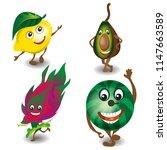 fruits represented as little... | Shutterstock .eps vector #1147663589