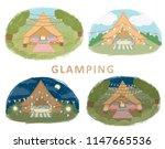 illustration of glamping ... | Shutterstock . vector #1147665536