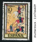 spain   circa 1975  stamp... | Shutterstock . vector #114766609