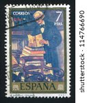 spain   circa 1972  stamp... | Shutterstock . vector #114766690