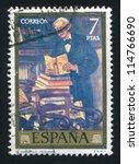 spain   circa 1972  stamp... | Shutterstock . vector #114766690