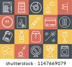 set of 20 simple editable icons ...   Shutterstock .eps vector #1147669079