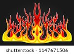 blazing fire decals for the... | Shutterstock .eps vector #1147671506