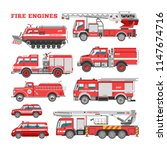 fire engine vector firefighting ... | Shutterstock .eps vector #1147674716